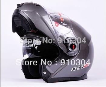 wholesale Moto Racing helmet LS2 FF386 Silver grey  Ride Flip-Up Helmet Motorcycle Helmets Full Face Helmets FREE SHIPPING