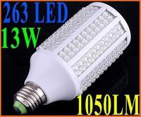 Retail-Ultra bright LED bulb 13W E27 110-240V Cold  Warm White light LED lamp with 263 led 360 degree Spot light
