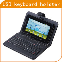 "USB Keyboard Leather Cover Case Bag for 7"" Tablet PC MID PDA VIA 8650 , Free Shipping"