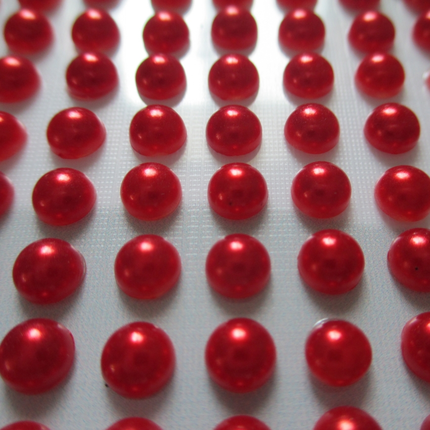 5mm self-adhesive pearl stickers,mixed color, wholesale scrapbooking stickers,Diary mobile sitckers, Free Shipping(China (Mainland))