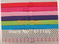 FOE 10colors Free shipping 100pcs Dot Fold Over Elastic Headband for baby and children adults