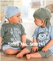 Wholesale,5pcs/lot,2013 New Arrival,Free shipping, (Hat+shirt+short pant) 3pcs Monkey Baby Suit Baby Clothes Set