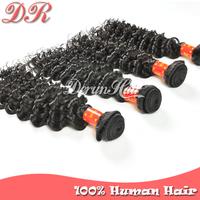 Peruvian Virgin Hair Extensions,4pcs Peruvian Deep Wave Natural Color Hair Bundle Weft Remy Human Hair Weave Wavy Free Shipping