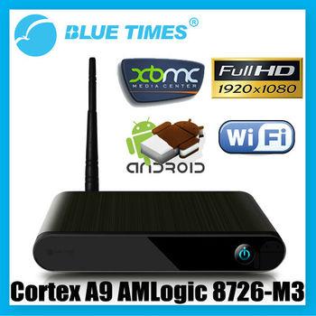Bluetimes 3584DA Android HD 1080p XBMC WiFi Media Center Player Mini PC TV Box HTPC IPTV AMLogic 8726-M3 Free Shipping