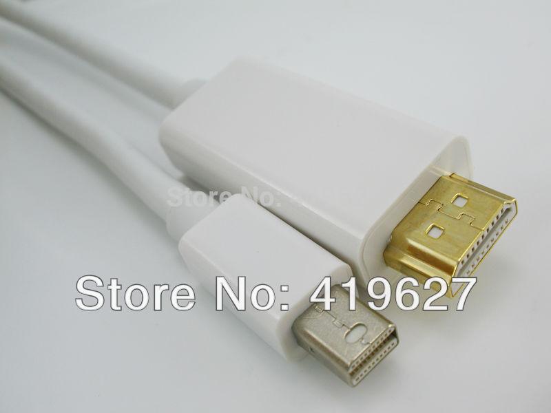 Free Shipping 2PCS Thunderbolt Mini DisplayPort to HDMI Male For Apple Mac Macbook & Air surface pro1.83M(China (Mainland))