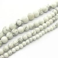 4mm 6mm 8mm 10mm Fashion Natural White Howlite Turquoise Gemstone Stone Beads Round Loose Beads Semi Precious Stone HB525