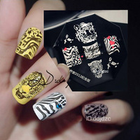 Newest  Design Stamping Nail Plates 10 pieces/lot    Image Plates   Tiger Design   QA Limited Edition