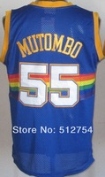 #55 Dikembe Mutombo Jersey,Rev 30 Throwback Basketball Jersey,Best quality,Authentic Jersey,Size S--XXXL,Accept Mix Order