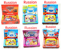 New Russian Language toys electronic tablets Learning Machine Educational toys for children 5 styles for your choose