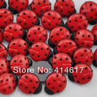 200 pcs resin ladybug Button Sewing Craft Scrapbook Garment DIY H1064