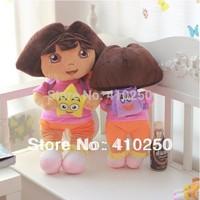14inch 35CM Fashion Cartoon Dora the Explorer Plush Dora Doll Toys Stuffed Animal Toy for Kids Girls Childen Birthday Gift