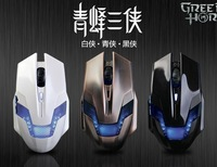 New Arrive Green Hornet Gaming Mouse 2000DPI 3X adjustable support  windows 2000/ XP/ Vista/ 7free shipping