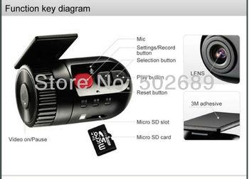 HD 720P Korea Hot Sale In Car Dash Camera Video Register Car DVR camera G-sensor ,Wholesale,Free Shipping /Dropping Shipping