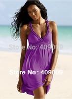 Seaside holiday new sexy v-neck dress Korea beach dress dresswith shoulder-straps beach short  dress in the summer