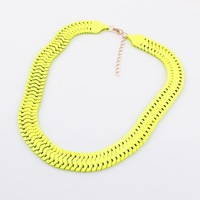 Min.order is $10(mix) new fluorescence necklaces & pendants fashion chains necklaces for women 2014 wholesale jewelry(4 color)