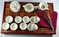 elegance Porcelain Tea set with tray,peach blossom pattern tea set ,tea board.Free shipping !!!