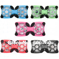 USB Mini Octopus Laptop Notebook Fan Cooler Cooling Pad Folding Coller Fan With Retail Box Free Shipping 8704