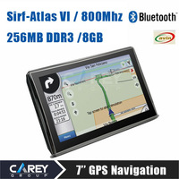 New arrival! 7 inch GPS Navigation SirF Atlas VI Dual core 800MHz DDR3 256MB 8GB Bluetooth AV IN Navitel IGO not android A7001