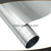 Exclusive chrome! Silver chrome mirror sticker for car wrapping- No air channels