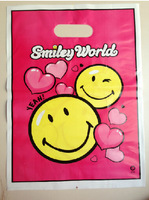 """Smile face""25*35cm clothes bags,packing for garments  /plastic packing bags"