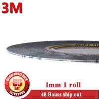 Super Slim & Thin 1x 1mm*50 Meters 3M Black 9448  Double Sided Adhesive Tape for Mobilephone Screen Display Bond Repair