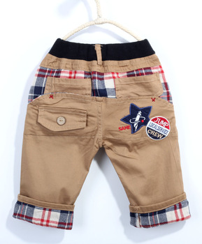 Free shipping!2013 Summer Casule Boy Five Star Cotton Pants