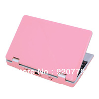 "2013 Hottest 7 Inch"" Android 4.0 Mini Notebook Laptop  Camera WiFi 3G HDMI Pink Color  Free Shipping"