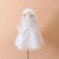 Freeshipping 2013 New Baby Girls Lace Dresses Toddler Flower Girl's Birthday Party Tutus Dress Princess Newborn Christening Gown