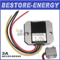 Free Shipping 20pcs/lot 3A Step-up DC to DC Power Converter 12V to 24V 72W Boost Converters