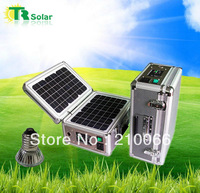 20w portable solar powered system,indoor solar home lighting system with led lighting Portable system