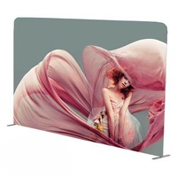 10ft Single sided Straight Single-Sided Fabric Display Wall (Graphics Included)