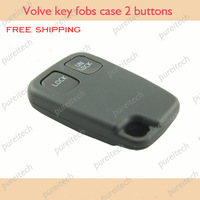 free shipping volvo remote key fob case 2 buttons no logo for  v40 xc90 s60 car keyless remote
