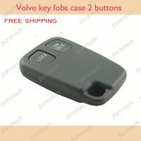 free shipping volvo remote key fob case 2 buttons no logo for  v40 xc90 s60 car keyless remote