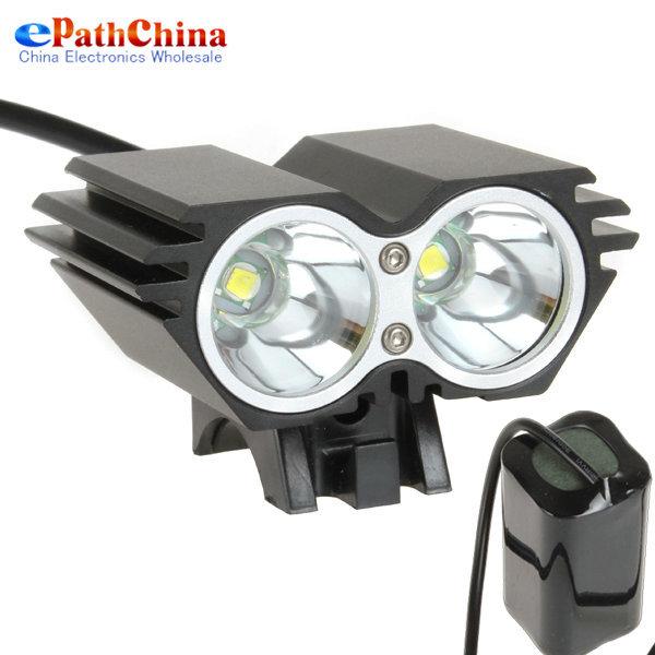 Securitylng 4000 Lumen Cree XML U2 LED Bicycle Light Bike Lamp + 6400mAh Battery Pack + Charger, 4 Switch Modes, Free Shipping(China (Mainland))