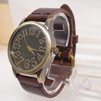 Holiday sale 2014 new arrival Genuine Cow leather watch Men Women ladies fashion dress wrist watch KOW042