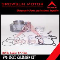 GY6 150cc 57.4mm Cylinder Kit for Chinese 150cc 157QMJ Motor Scooters, ATV, Taotao, Roketa. Peace, Yiben, Nst