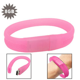 Silicone Wristbands USB Flash Pen Drive 1GB 2GB 4GB 8GB 16GB 32GB 64GB Free Shipping 5pcs/lot