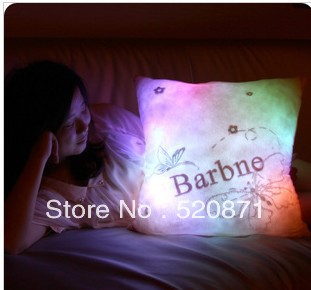 Hot sale Personalized light-UP LED Wedding gifts Valentine's doll gift lovers birthday gift Plush pillow(China (Mainland))