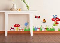 free shipping  DIY kid room sticker mushroom and ladybug nursery/ children room wall sticker 50*70 cm