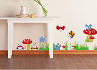 free shipping  DIY kid room sticker mushroom and ladybug nursery/ children room wall sticker 50*70 cm