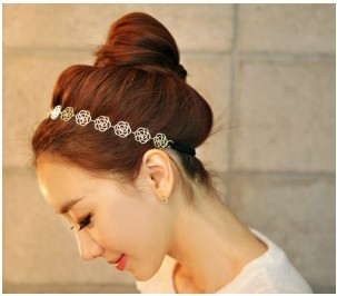 Free shipping fashion jewelry headdress female hollow out roses cuisine hair accessary with a hair band