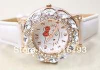 Crystal Diamond Hello Kitty Watch children kids christmas gift Free shipping! 20pcs/lot
