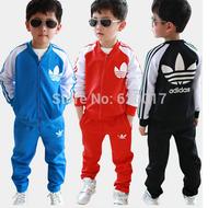 Free shipping 2014 new Children's clothing set coat+pant fashion boys girls clothes brand kids set retail