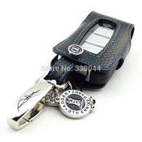 Genuine Leather Car Key case fob cover for Hyundai Sonata 8 NF ix35 Coupe Rohens Veloster ELANTRA Genesis black color