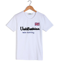 Free Shipping Vals Foaming Flower Letters Cotton Men T-shirt, Tee Men, White