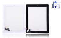 Gift tools for iPad 2 Touch Screen Digitizer with Home Button Assembly black white colour free shipping china post