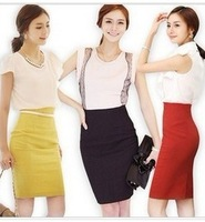 2014 New Arrival Women Packet Hip Skirt Korea Style Sexy High Waist Slim  A-line Skits Free Shipping A115