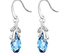 CDE Fashion party earring, Crystal bling bling jewelry made with Luxury SWA element E0089 90