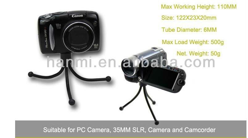 Low Price New Quality Flexible Mini tripod Iron Leg Potable Tripod w/ Pocket Clip Holder for Camera Canon Nikon Mini Camacorder(China (Mainland))