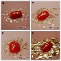 Free Shipping Gold Nail Art Metal Sticker Decoration Gold Decal Metallic Sticker 1000pcs/pack